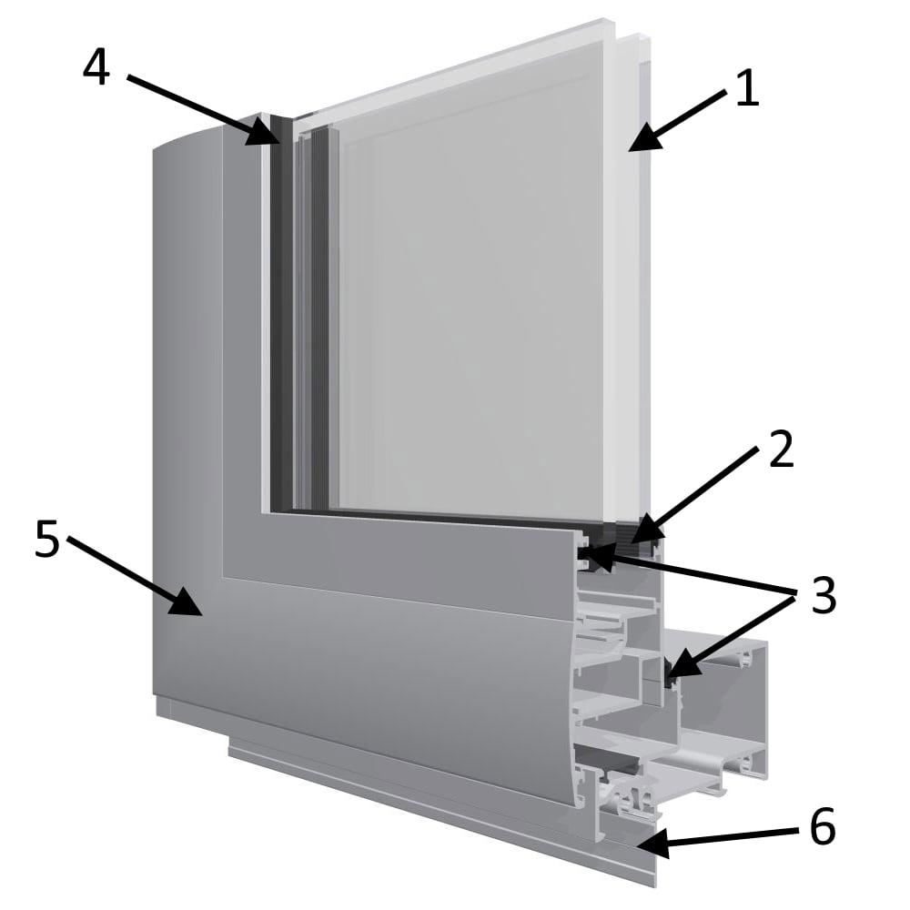 Структурная схема теплой двери входного тамбура