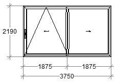 структурная схема раздвижных дверей