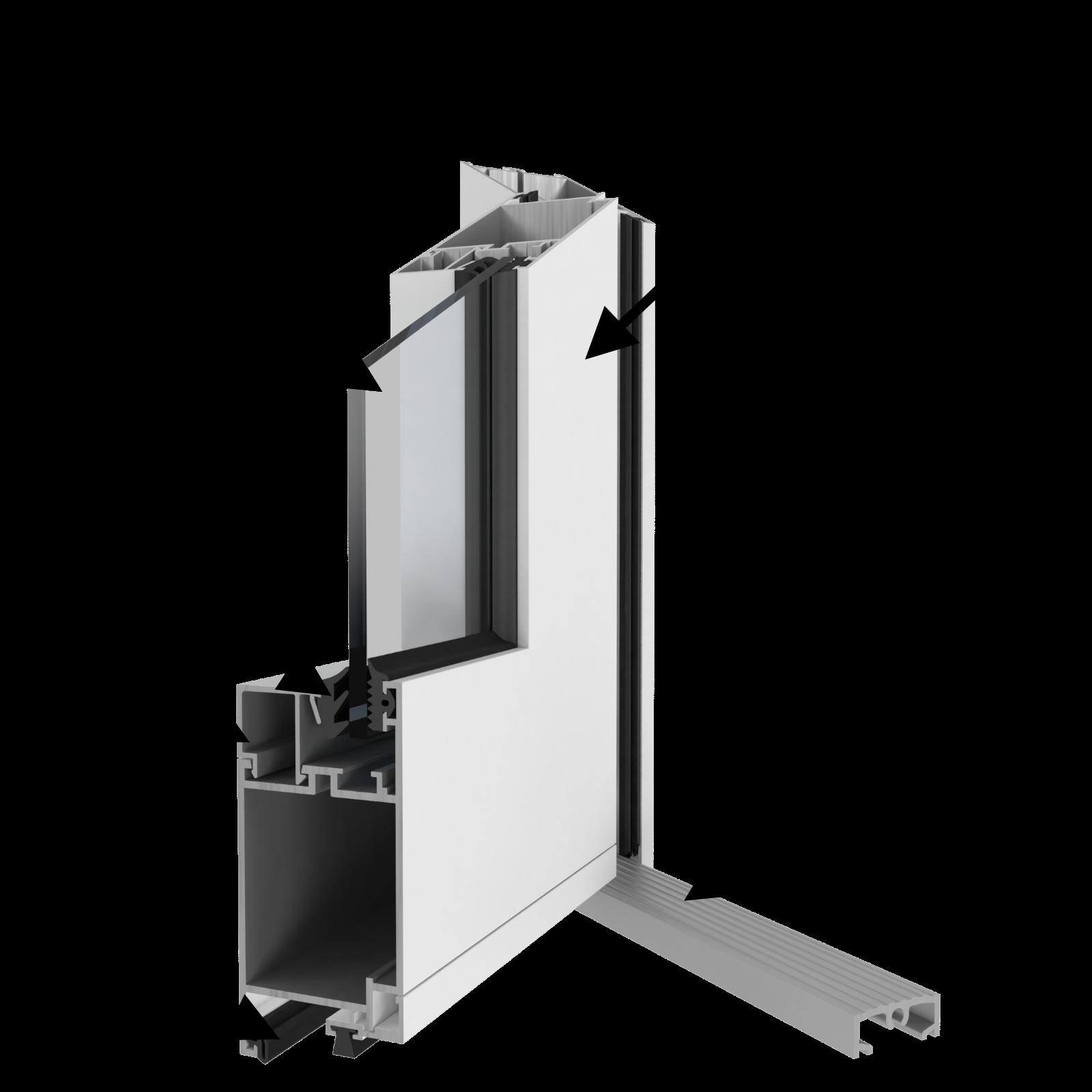 структурная схема холодной алюминиевой двери