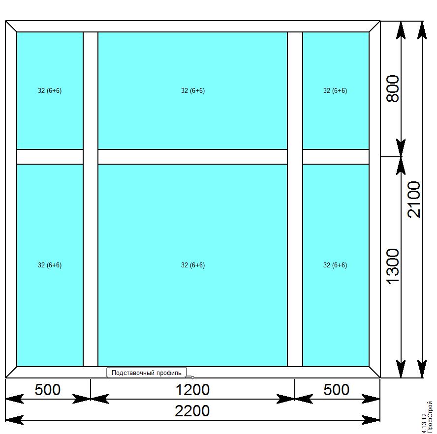 VIDNAL V60 (с терморазрывом) / V60 витражи