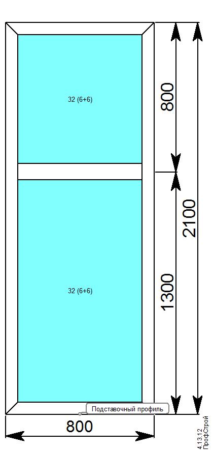 VIDNAL V60 (с терморазрывом) / V60 окна, витражи