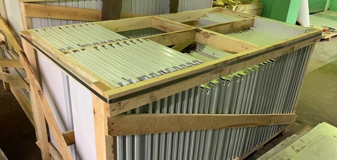 поставка металлических фасадных кассет